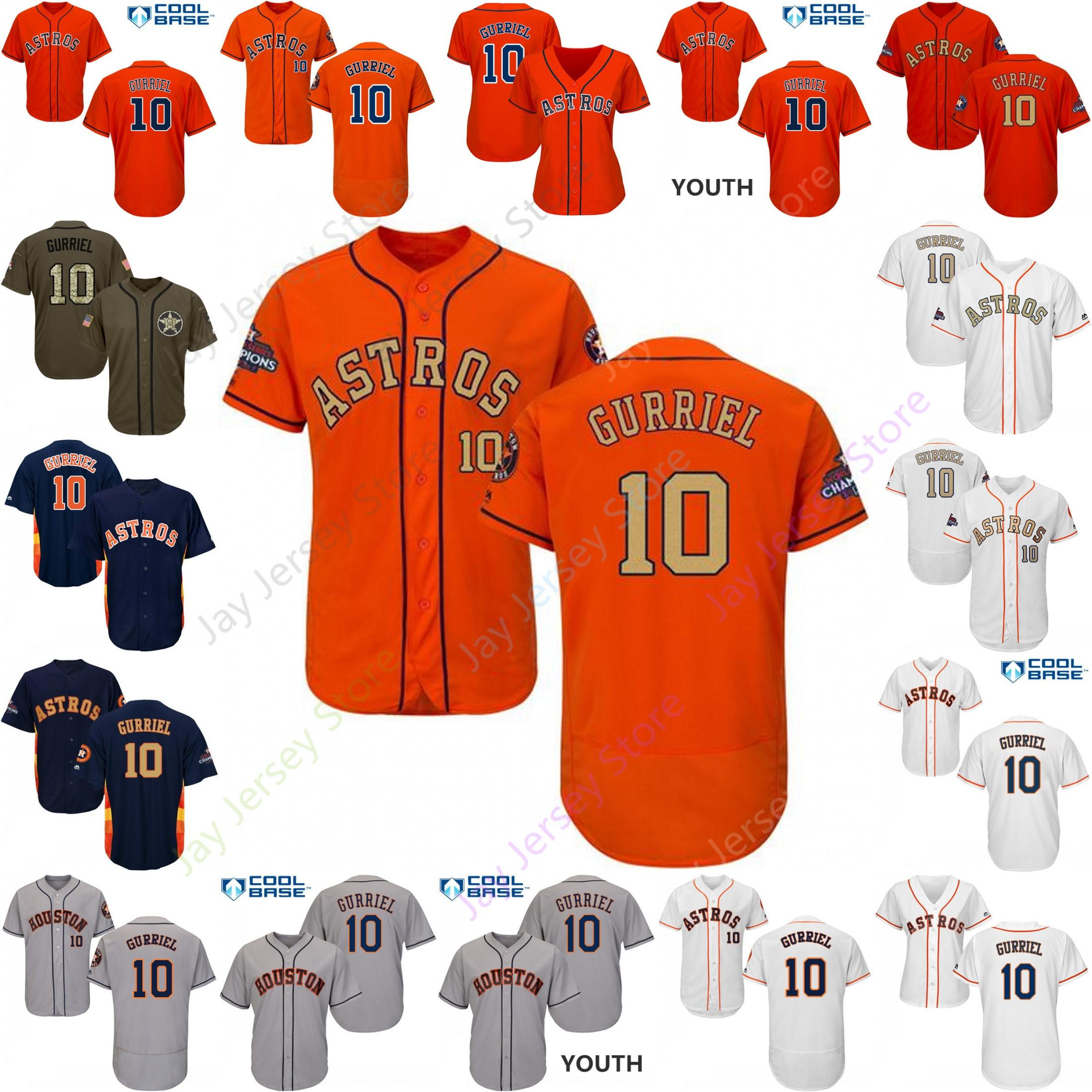 newest cbe86 d1d69 Personalizado Houston 10 Yuli Gurriel Jersey Astros Jerseys Cooperstown  Cool Base Flexbase Branco Preto Vermelho Cinza Casa Fora Homens Mulheres ...