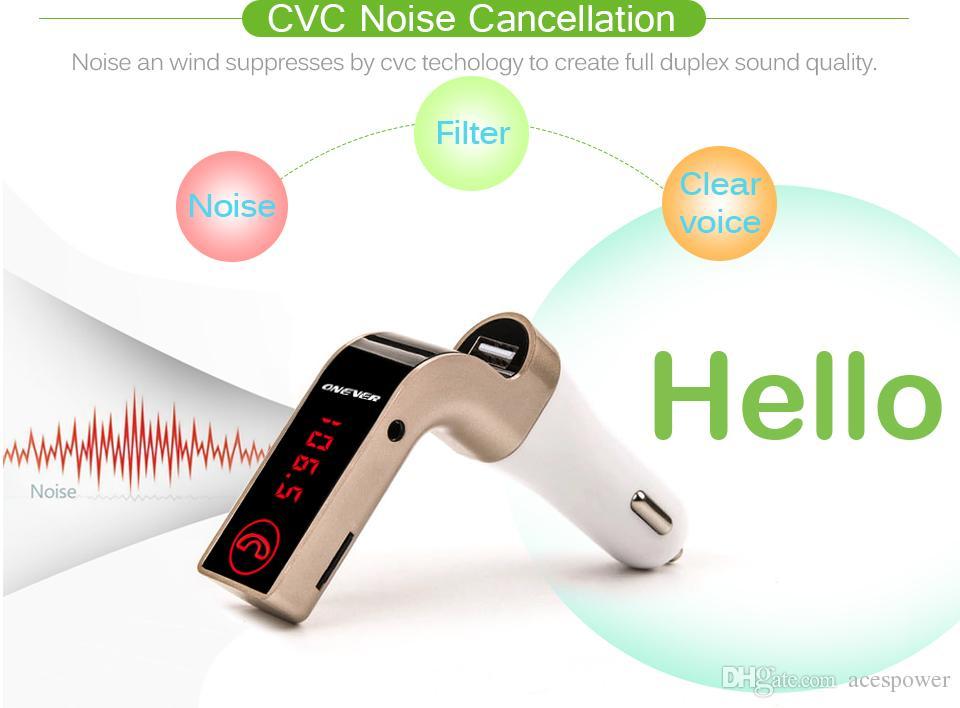 G7 자동차 MP3 오디오 플레이어 무선 자동차 블루투스 FM 송신기 키트 모듈레이터 미니 USB를위한 삼성 휴대 전화