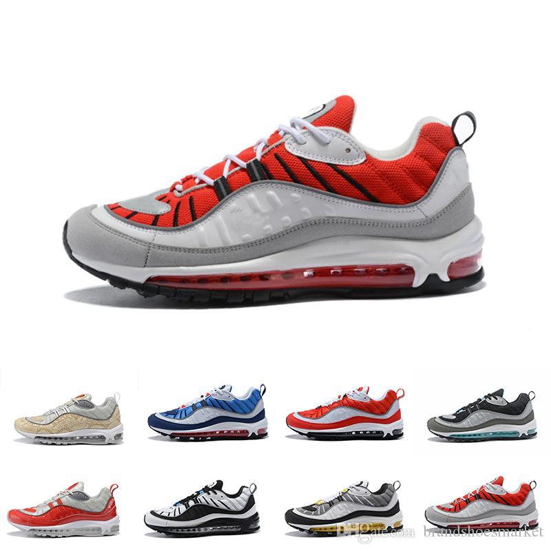 1386ead9b2677 Designer 98 98s Running Shoes For Men Women Gundam Triple Black ...