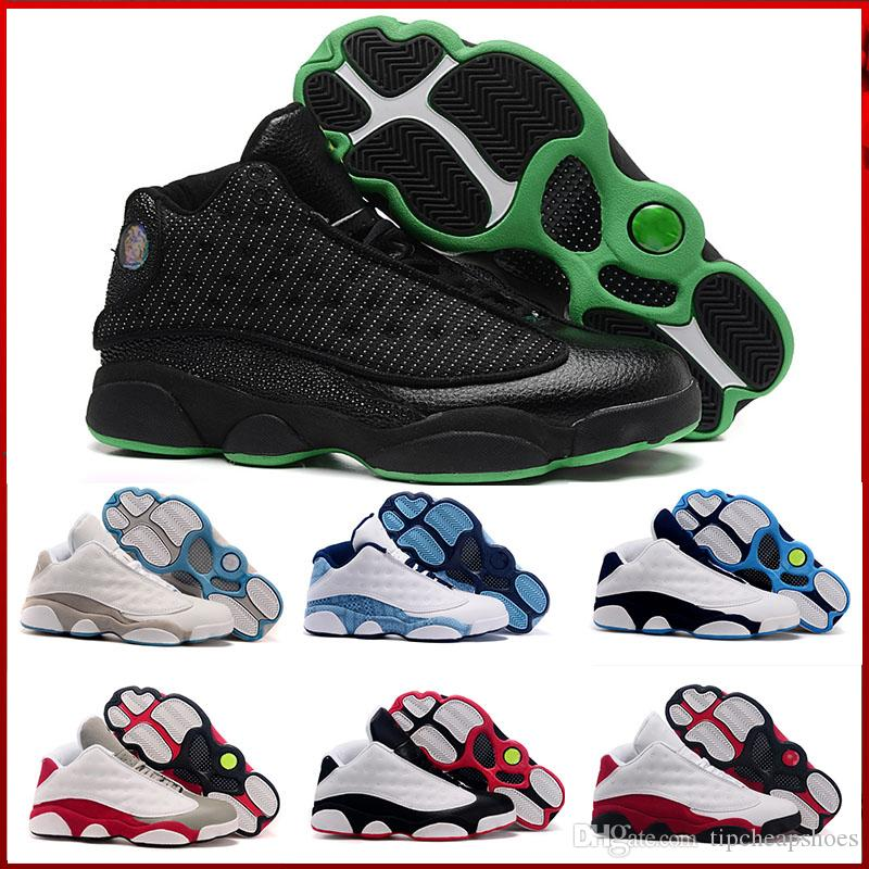 buy popular a1126 47f27 Großhandel Nike Air Jordan 13 Aj13 Retro 2018 13 Schuhe J13 Weiß Er Bekam  Spiel Black Cat Brachte Chicago Hyper Royal Playoffs Italy Blue Mit  Original ...