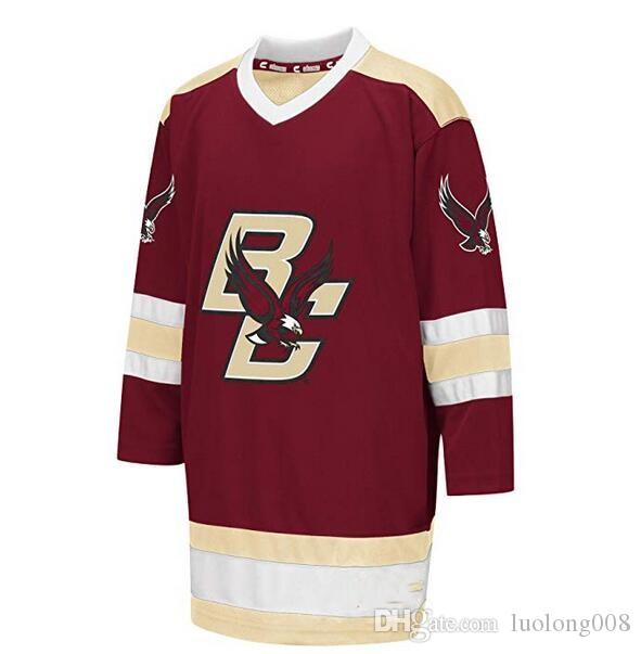 14937ac9a 2019 Boston College Eagles University Hockey Jersey Embroidery Stitched  Customize Any Number And Name Jerseys From Luolong008, $52.79 | DHgate.Com