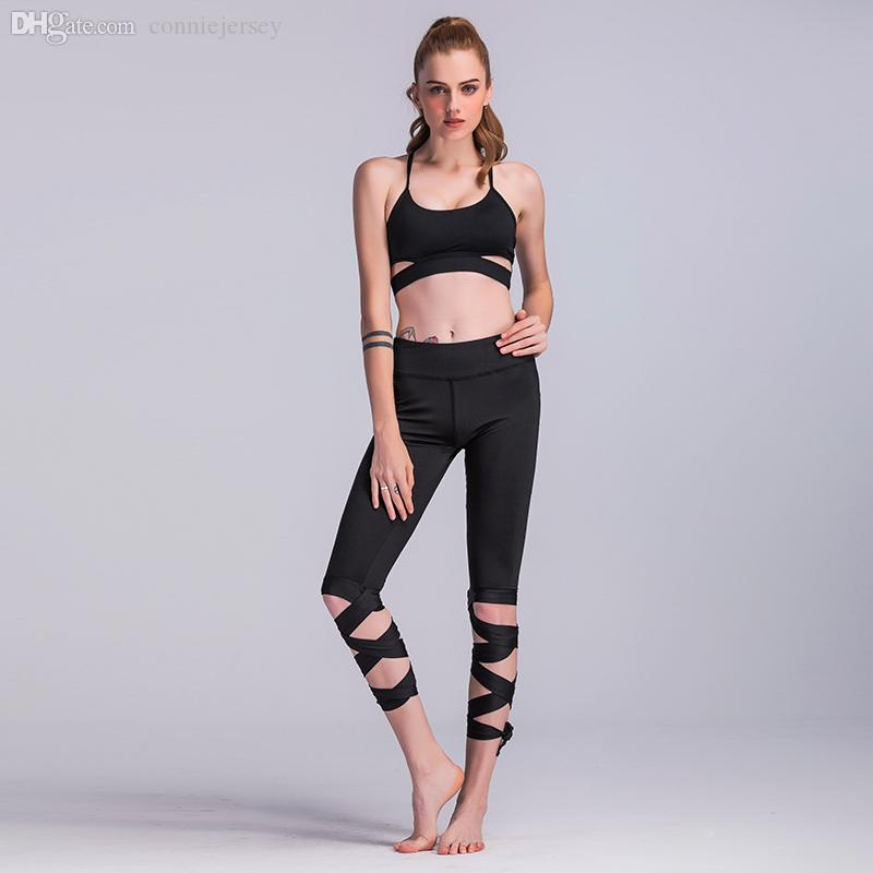 c1a61b433ee055 2019 Leggings Women Gym Legging Women Clothes High Waist Pants Capris Dance  Tight Bandage Yoga Cropped Pant Ballerina Sportswear Fitness From  Conniejersey, ...