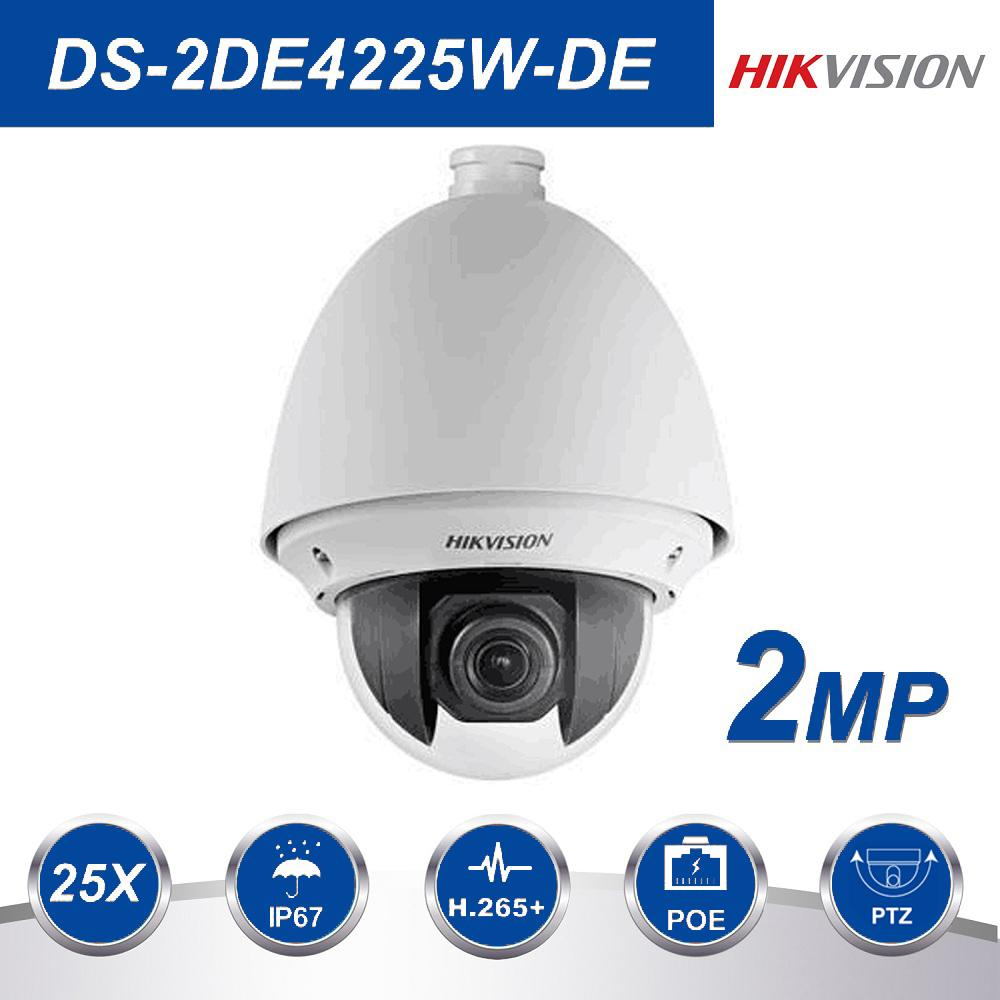 Hikvision PTZ IP Camera DS-2DE4225W-DE 2MP 25X Zoom Speed Dome POE Camera  H 265 support Defog EIS Regional Focus