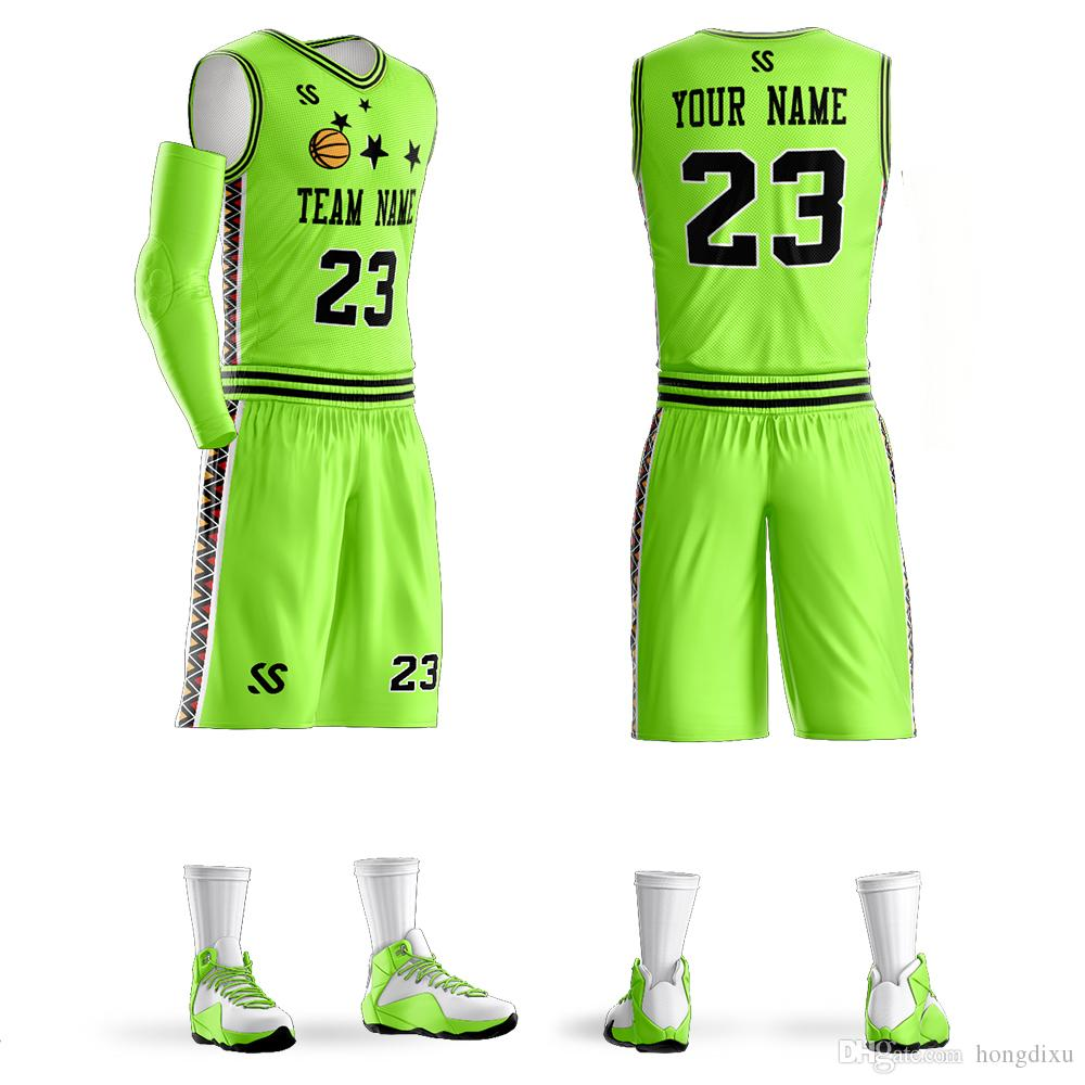 c63d48b6ea75 2019 Wholesale Customize Basketball Jerseys Sets Free Print Number Youth  Jerseys And Adult Jerseys Custom Make