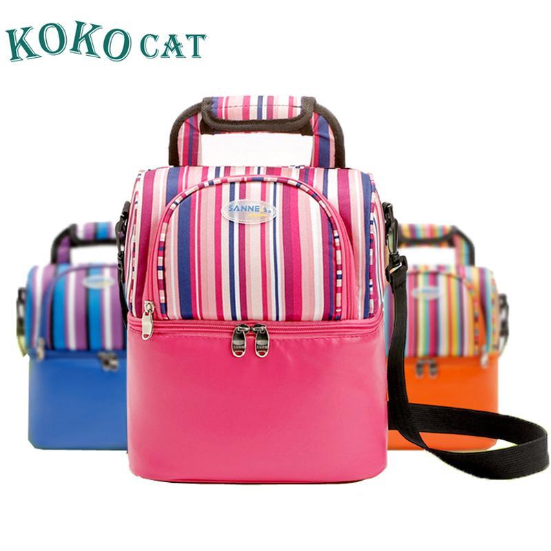 366d0a6ffc62e Satın Al Kadınlar Için Öğle Çantaları Moda Taşınabilir Soğutucu Piknik  Çantası Termal Öğle Yemeği Kutusu Çocuklar Süt Çantası 3 Renkler, $37.59 |  DHgate.