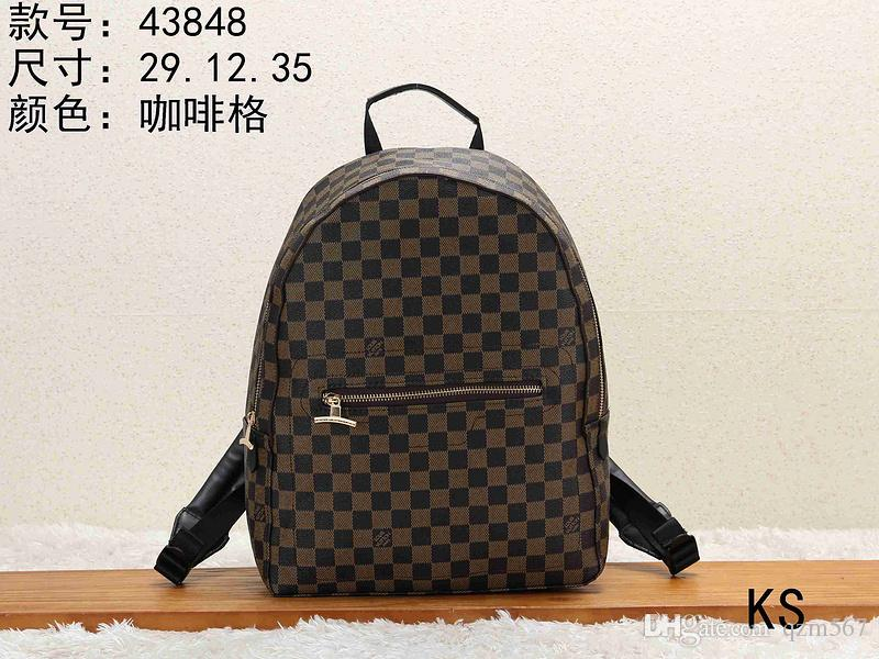 09097ec94877 2019 LOUIS VUIT Zwj TON Fashion Elegant Vintage Print Women S Travel  Backpack Backpack From Qzm567