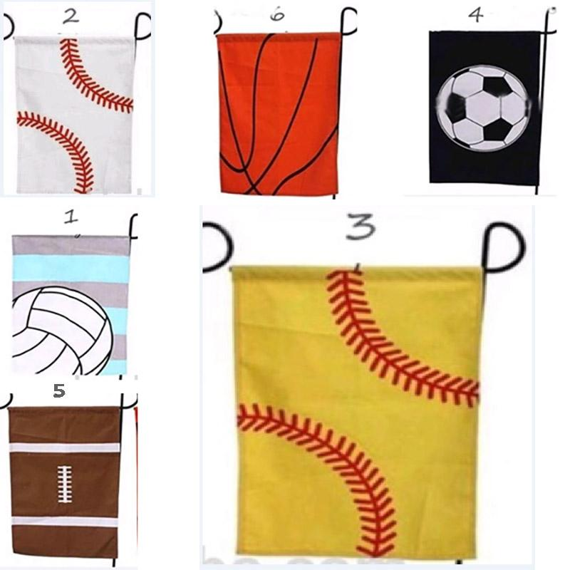 Basketball Baseball Garden Flag Sports Flags Easter Ball Flag Canvas