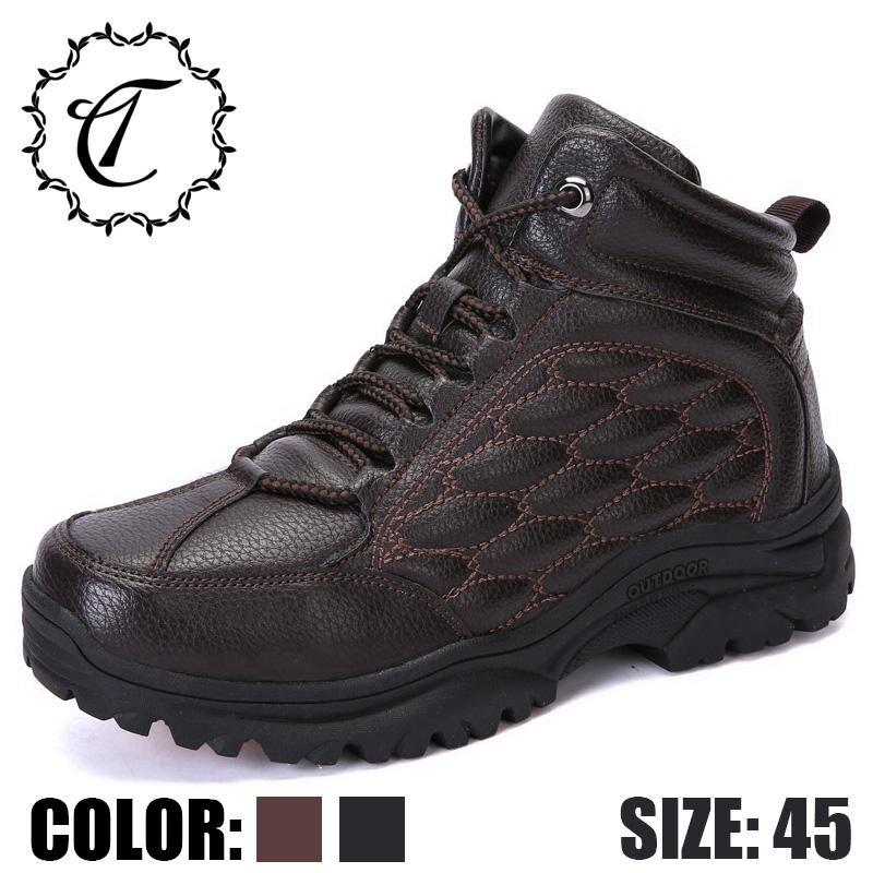 f5d874873139 CatriCa Black Brown New 2019 Designer Casual Leather Adult High Top Quality  Fashion Luxury Male Boots Work Brand Men Shoes 8022 Cheap Shoes Online Shoes  For ...
