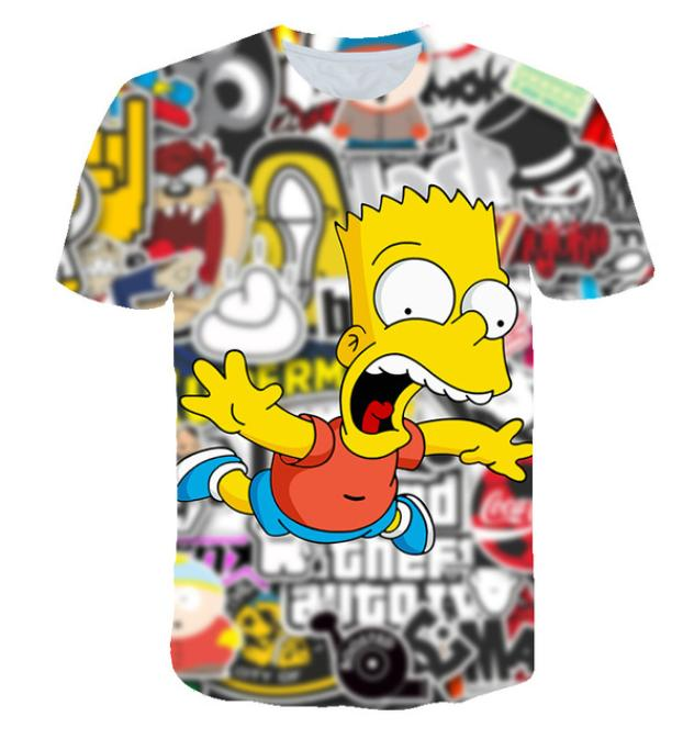 2d92cc18d8 2019 Newest Hot Sale Fashion Classic Cartoon Anime Simpson Snoopy T Shirt  Tee 3D Printed Unisex Couple Summer Tops Short Sleeve Tees Q786 Designer T  Shirt ...
