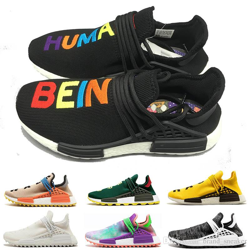 1ca5e3c9465a 2019 Classic Hu Human Race Runner Women Luxury Designer Sneakers Black  Green NERD White Blue Afro Solar Pack Mens Womens Running Shoes From  Brand sneaker