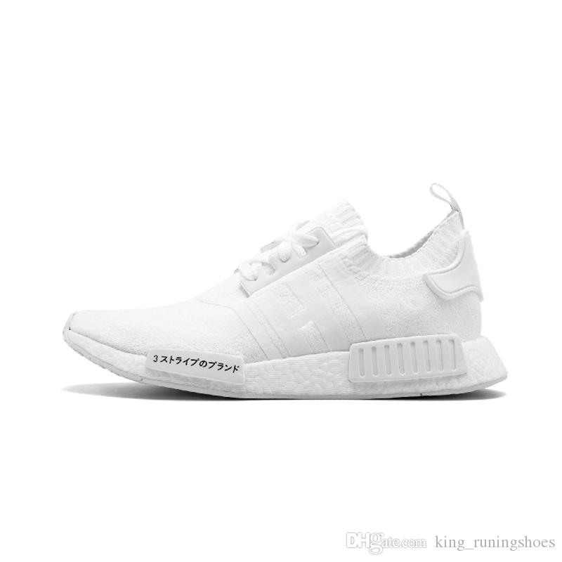 best loved 4b1df cc186 15-Colors Wholesale NMD R1 OREO Runner NBHD Primeknit Triple black White  Japan Grey Running shoes For Men Women beige Runner Sports Trainers