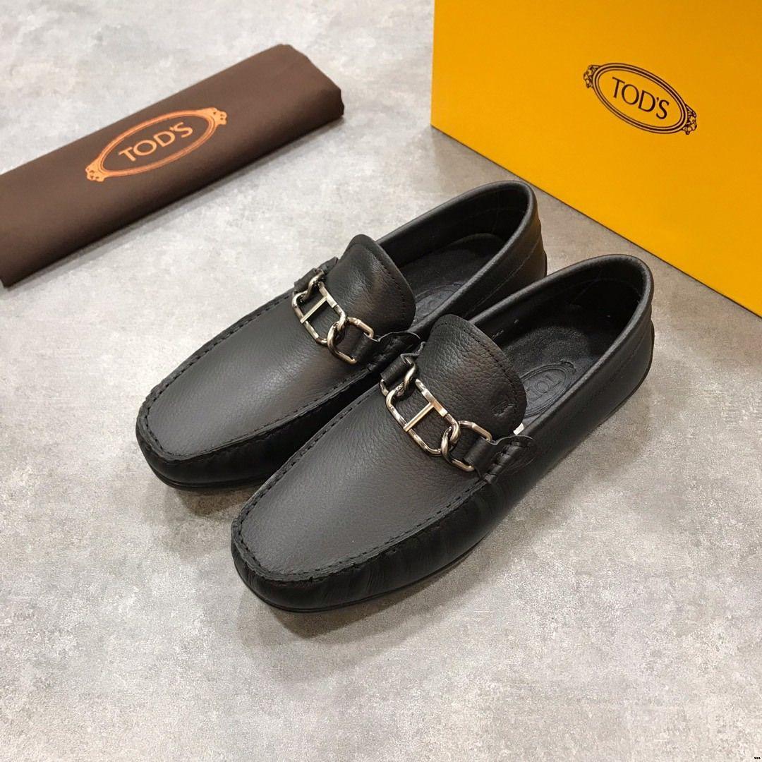 18652be5021c Acheter Hommes Chaussures En Cuir Casual Slip On Mocassins Hommes De Mode  Baskets Pigskin Hommes Drive Chaussures Italie Mocassins Flat Casual  Loafers De ...