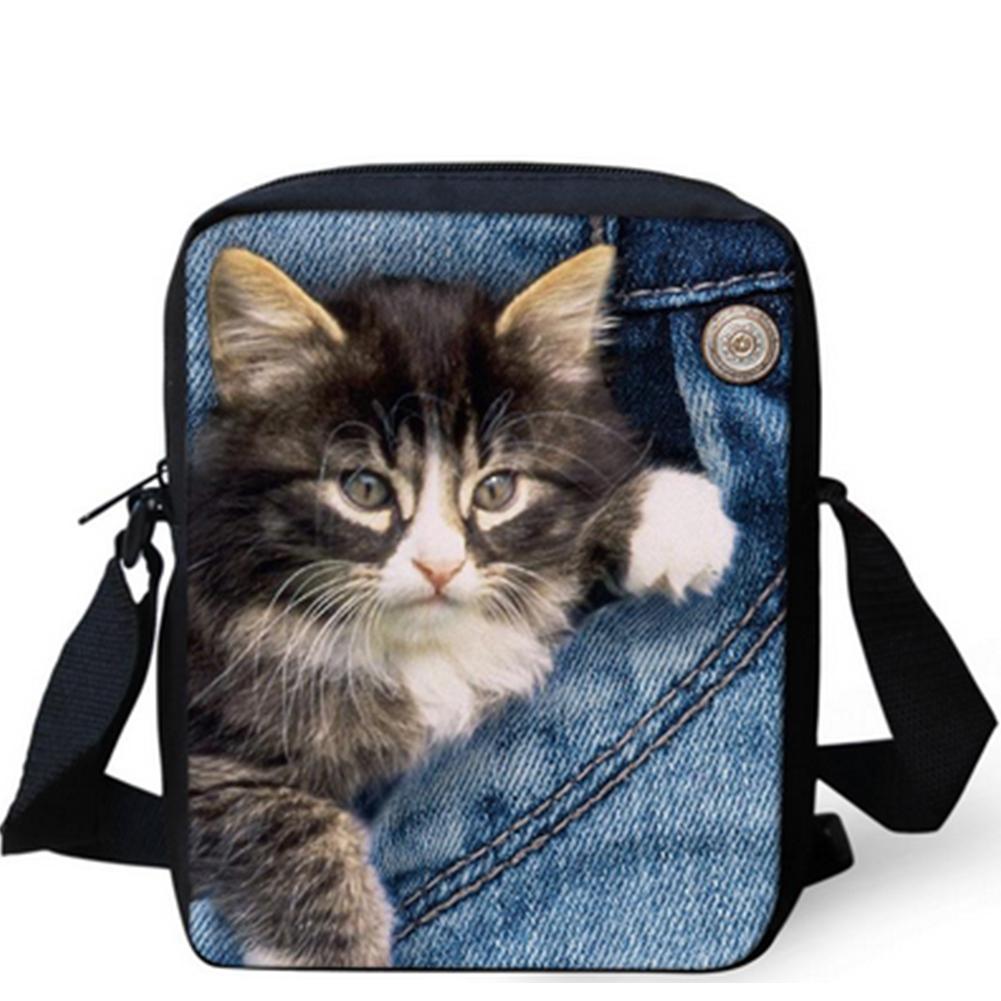 bc26afa9b95 Kawaii Fashionable Stylish Funny Women Girl Messenger Bags 3D Denim Shoulder  Handbags Cute Cat Crossbody Bag Christmas Gift Hobo Handbags Luxury Handbags  ...