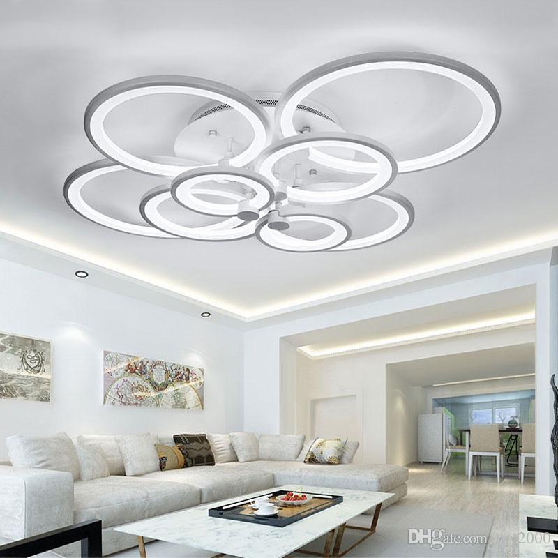 Acquista WhiteBlack Modern LED Lampadario Soggiorno Camera Da Letto ...