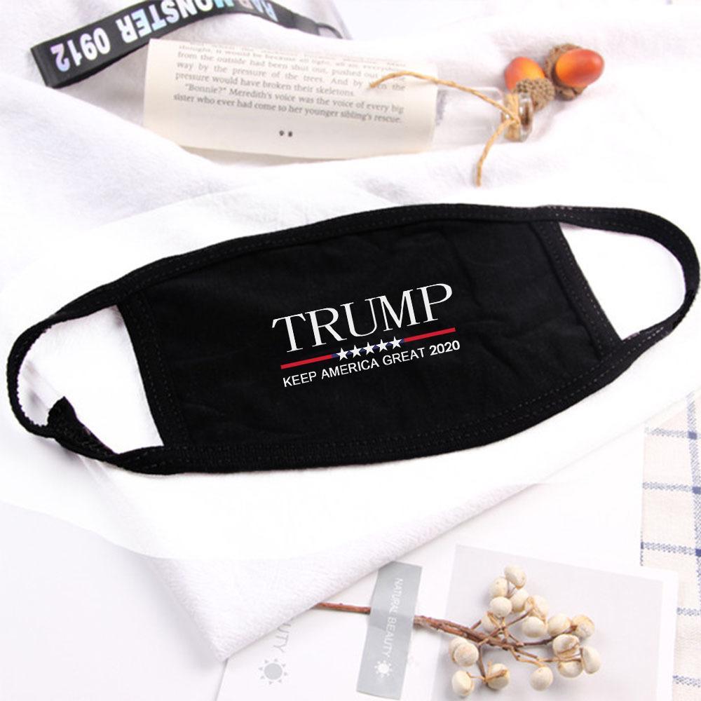 Trump Coton Masques visage noir Cyclisme Anti -Dust femme unisexe Masques Designer Fashion Imprimé Noir Lavable visage Masque 5 Styles FY9122