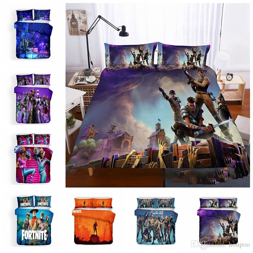 24 Styles Fortnite US UK AU Size Fabric Household Bedding Sets Bed Sheets Queen Bedding Sets King Size Comforter Set