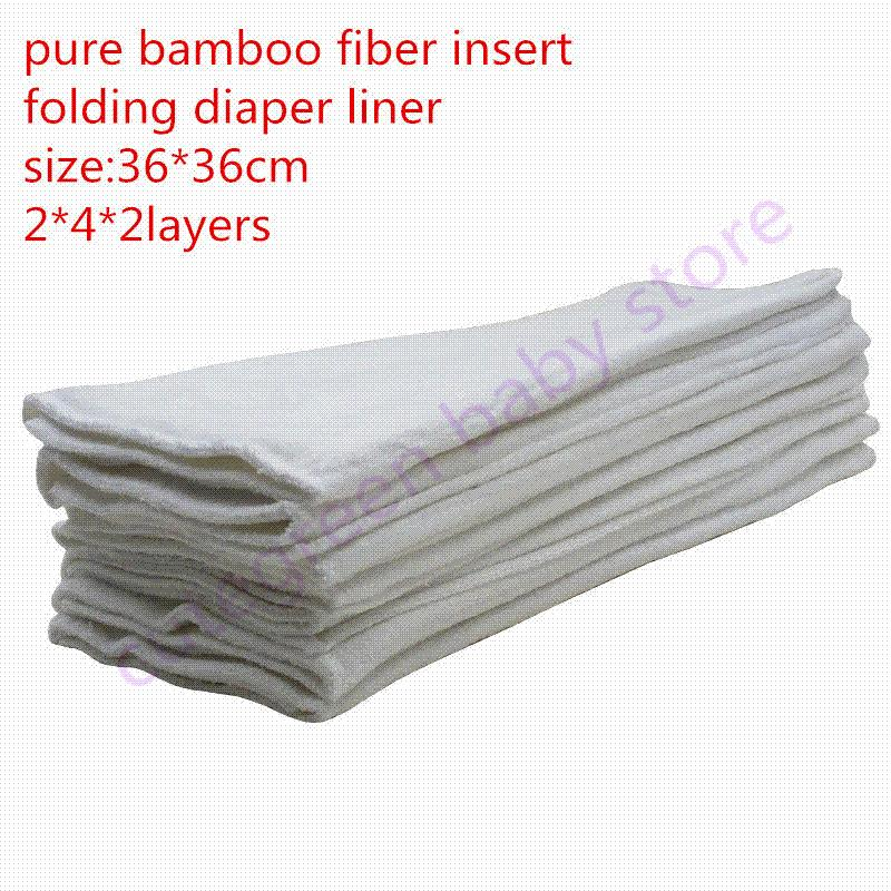[Cute Green]10pcs Pure Bamboo Nappies Prefold Diaper