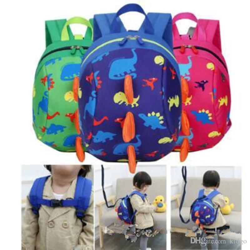 435cfa5d1490 5 Colors Kids Safety Harness Backpack Leash Child Toddler Anti-lost  Dinosaur Backpack Cartoon Arlo Kindergarten Backpacks T0322