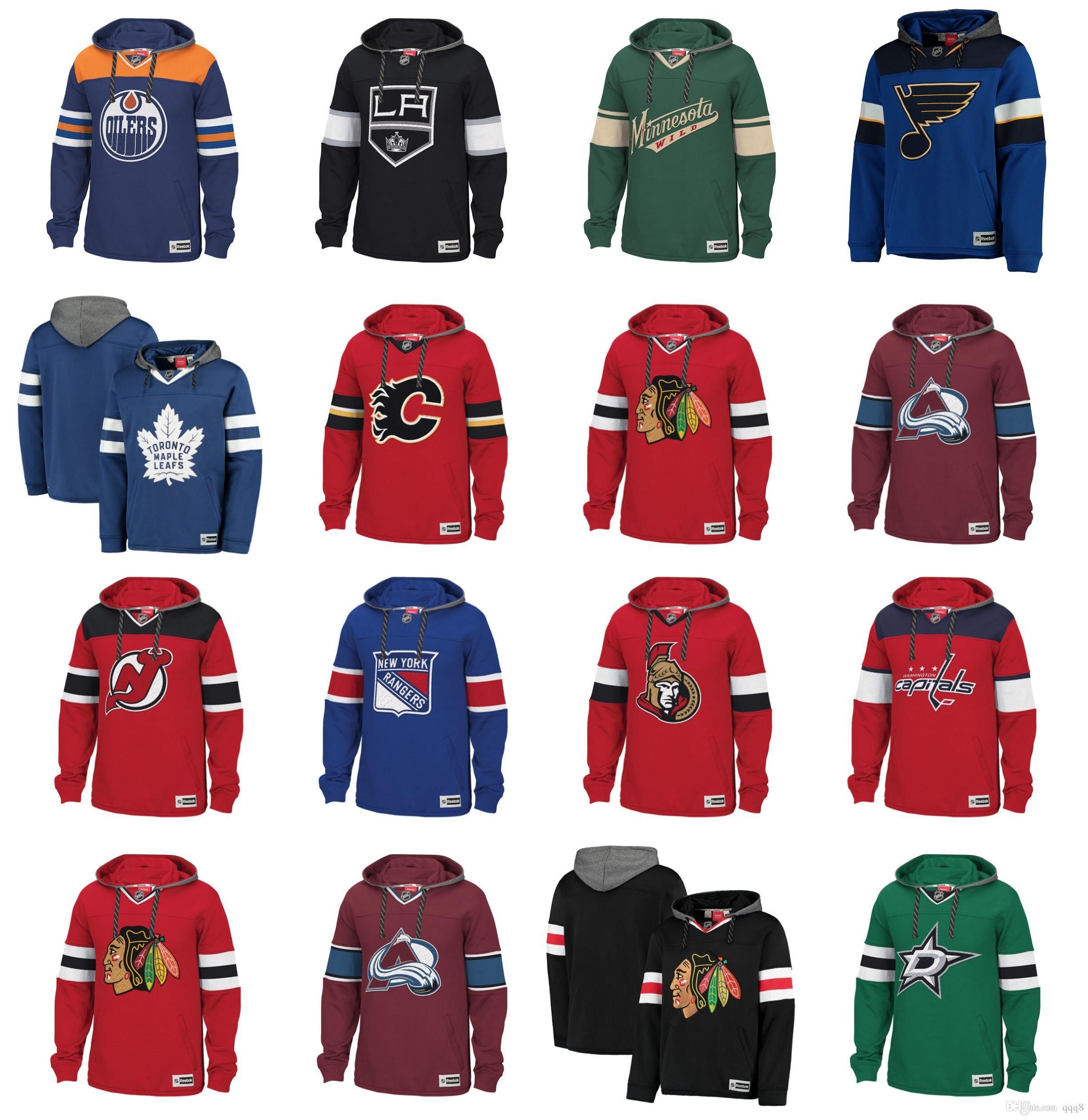 5bf89feb Sudadera con capucha de hockey NHL personalizada Chicago Blackhawks  Vancouver Canucks St. Louis Blues Tampa Bay Relámpago New York Rangers  Boston ...