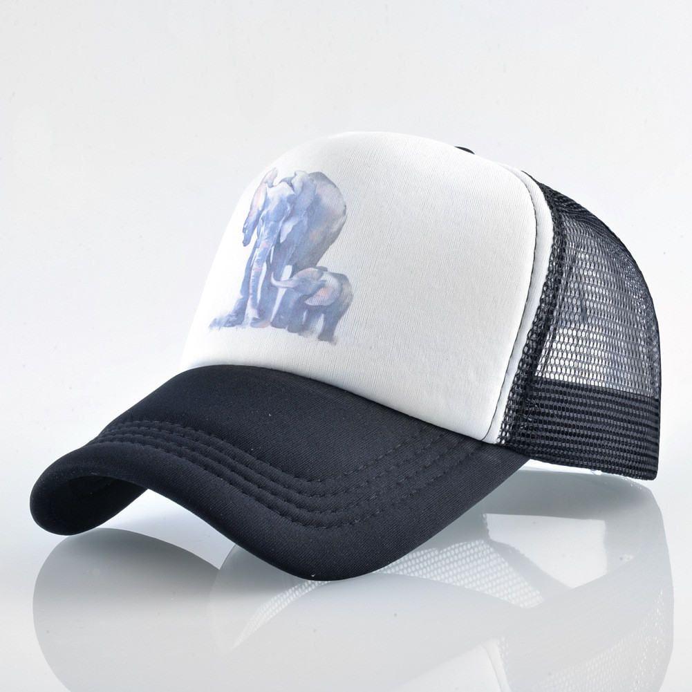 Designer Hats Trucker Caps With Elephant Printing Adjustable Skull  Snapbacks Baseball Mesh Cap For Adults Mens Womens Summer Sun Visor Cap  Shop Flexfit Caps ... 50de7ed89a0