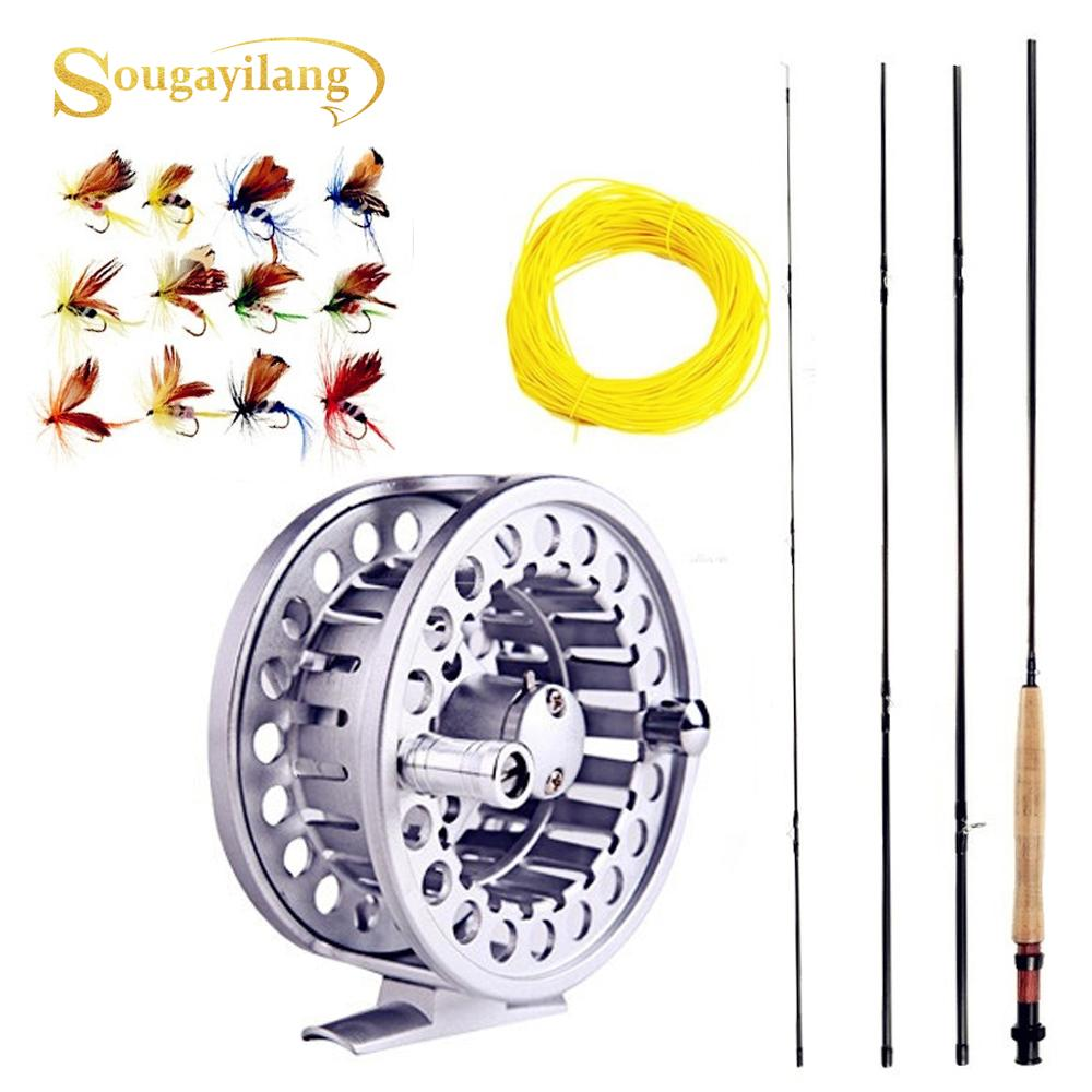 Fishing Rod 8.86FT 2.7M 4 Section Fly Fishing Rod Line wt 5//6 Fly Rod Lure Fishing Rod