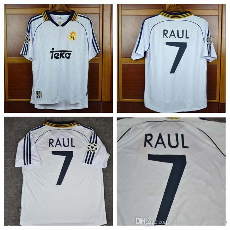 911dedf163a 2019 BEST 98 99 00 Real Madrid Retro Jerseys RAUL Shirts 1998 1999 2000  Redondo Carlos Seedorf Jerseys From Alex2002supershop