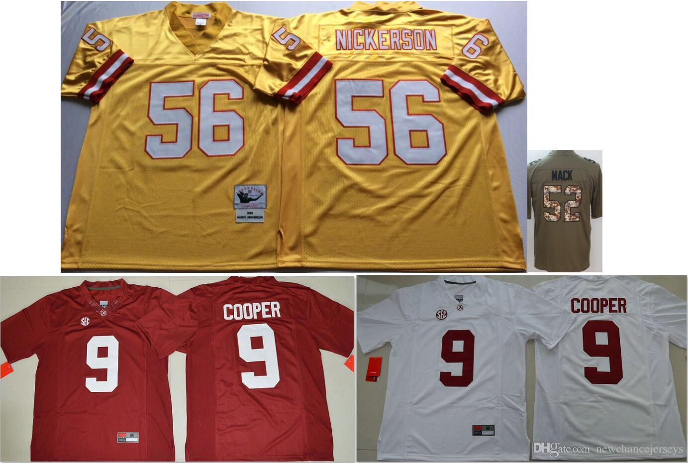 800c6b230 sale 2019 alabama crimson tide 9 amari cooper college men vintage chicago  52 khalil mack football