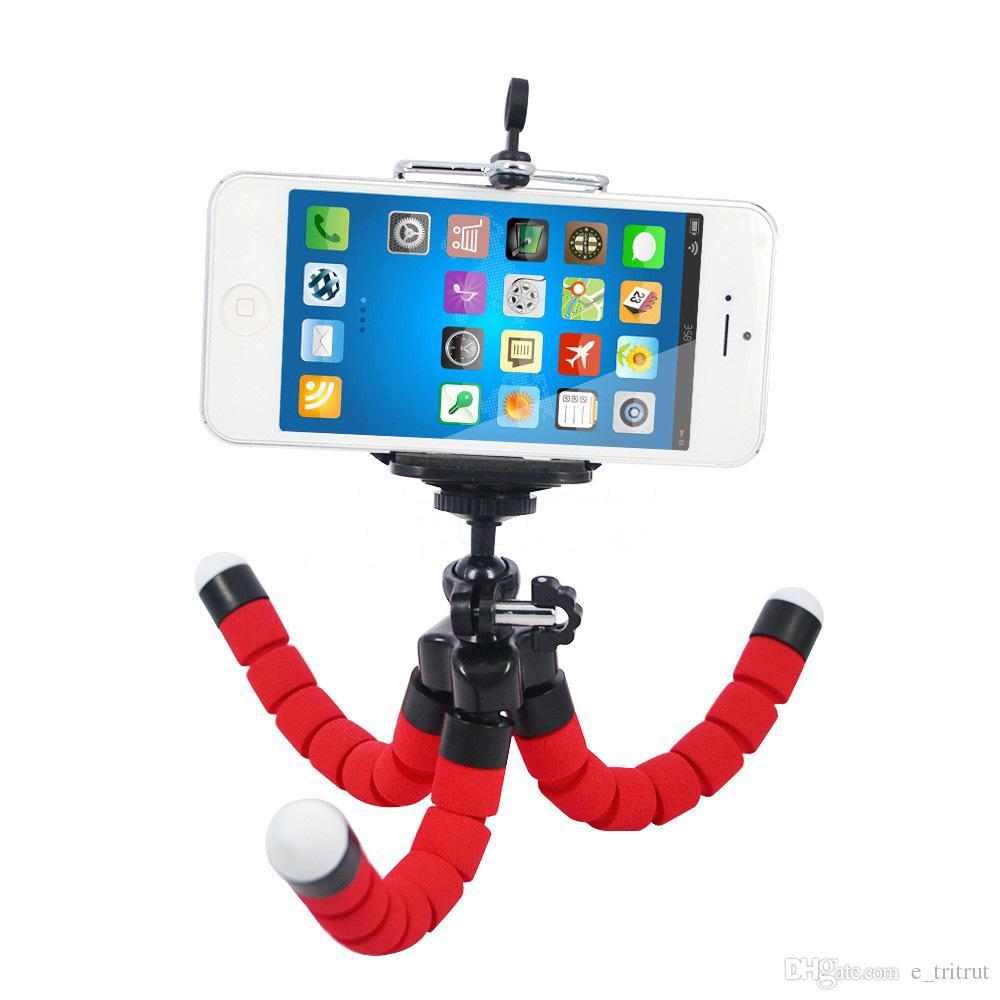Soporte para teléfono móvil Soporte para coche Soporte para coche soporte para trípode de pulpo flexible Monopod Soporte de espuma ajustable para la cámara del teléfono inteligente Universal MQ200