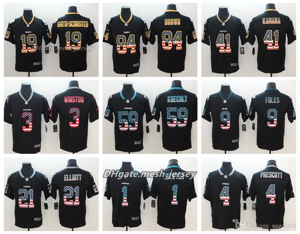 2019 Flag Version Tampa Bay Buccaneers Jersey Oakland Raiders New Orleans  Saints Pittsburgh Steelers Panthers Color Rush Football Jerseys From  Sagala01 7fd7b2817