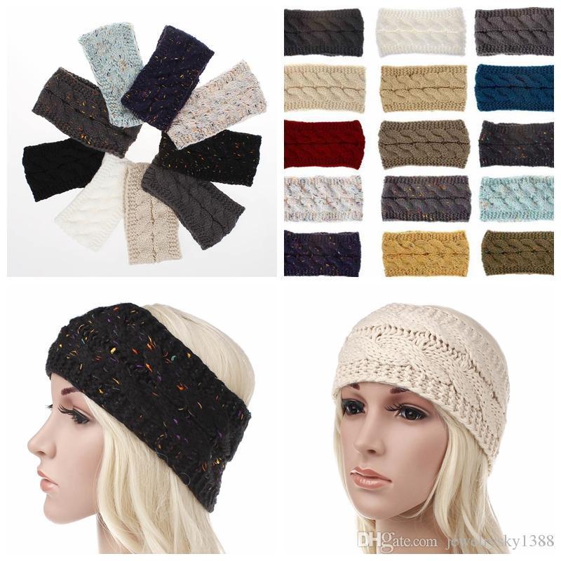 2019 Knitted Crochet Twist Headband Turban Winter Ear Warmer