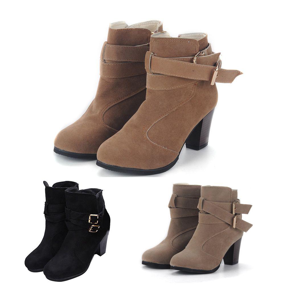 De Alto Invierno Moda Tacones Botines Mujer Nieve Calientes Zapatos Tamaño Bota 35 Calzado Botas 39 Tacón Cortos uXTOkZiP