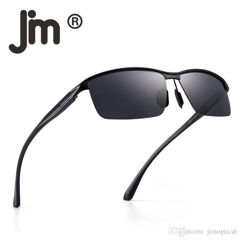 b8ad5af18e Compre Retro Vintage Polarizado Gafas De Sol De Conducción Al Mg Metal  Primavera Bisagra Gafas Semi Sin Montura Hombres Gafas De Sol Al Aire Libre  A $11.54 ...