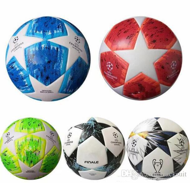 ad41247d2b3 2019 Best European Champion High Quality Ball Soccer Ball 2018 2019 Final  KYIV PU Size 5 Balls Granules Slip Resistant Football From Tracksuit
