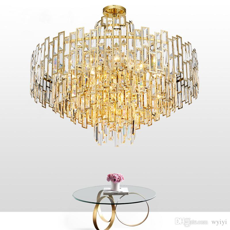 Modern Art Deco LED Chandelier Lustres Luxury Lobby Dining Room Living Lamps Gold Restaurant And Bar Lamp Hanging Lights Large