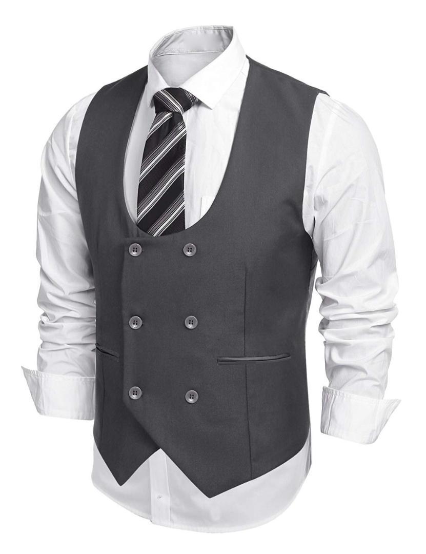 uk availability 0a854 725ac Herren Anzug Weste Slim Fit Jacke Ärmellos Beige Grau Braun Vintage Weste  Herren Gentleman Beckham Business Plus Size Weste
