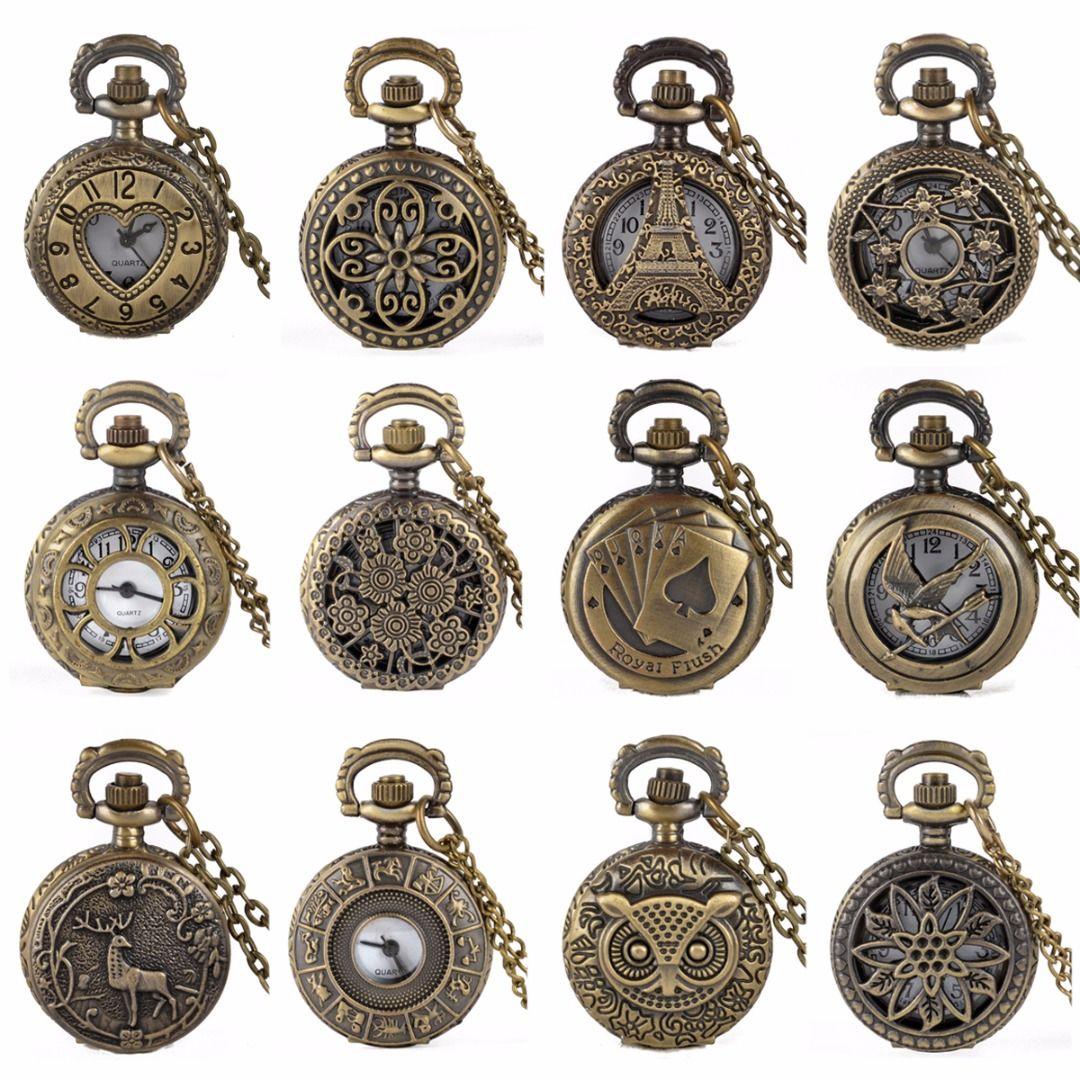 5d626fc440e 15 Styles Retro Pocket Watch Waterproof Vintage Antique Bronze Womens Mens  Pocket Chain Necklace Quartz Watch Diamond Watches Online Watches From  Tubecloth