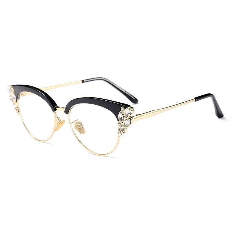 4ce1a0cf562 2019 Acetate Optical Eyeglasses Fashion Female Stylish Frame Spectacles For  Women Prescription Glasses Frame With Diamond Decoration From Nectarine99