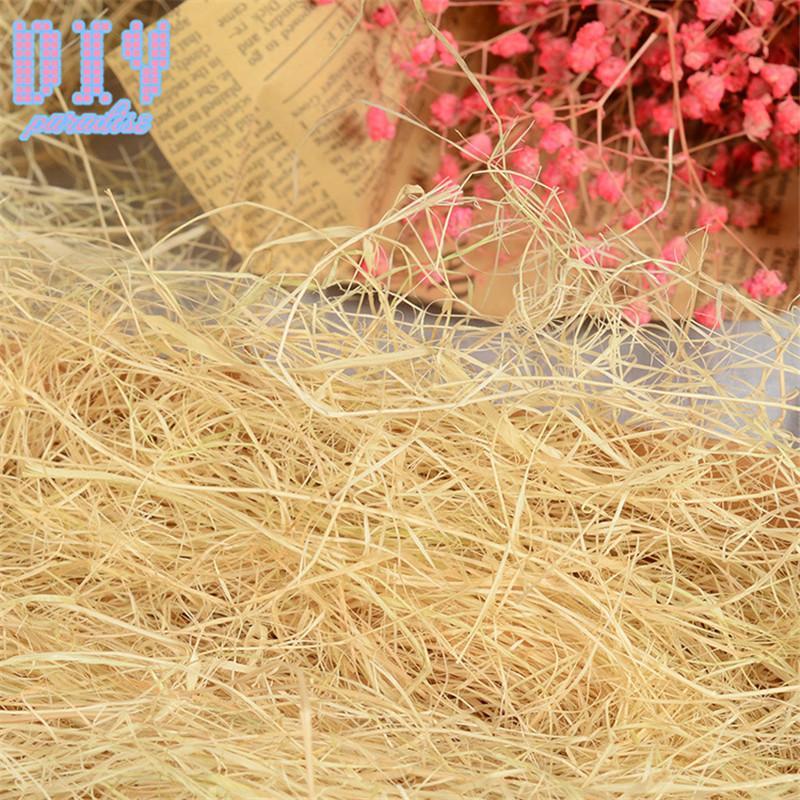 500 g / bolsa Colorido Craft Shredded Crinkle Raffia Candy Caja / Caja de regalo Material de relleno Relleno de papel de seda Decoración de la fiesta