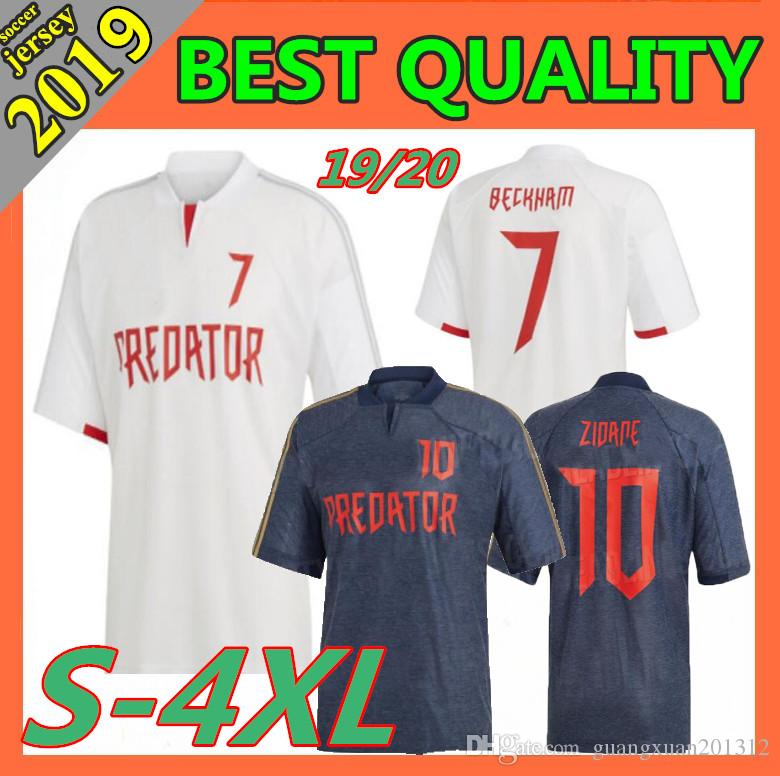 6c83068d1ce 2019 Size: S 4XL 2019 Predator David Beckham Jersey 19 20 Special Edition  Predator Zinedine Zidane Football Shirts Commemorate Version From  Guangxuan201312, ...