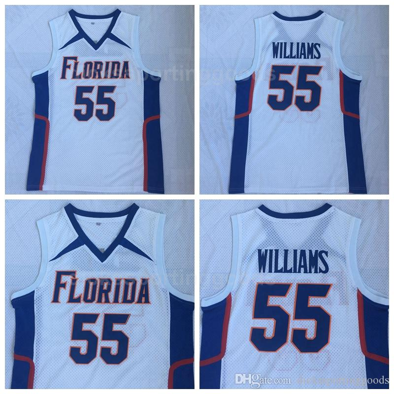 0262812eff3 2019 NCAA College Florida Gators UFL Double Basketball 55 Jason Williams  Jersey Men White Team Color University Top Quality On Sale From  Top sport mall