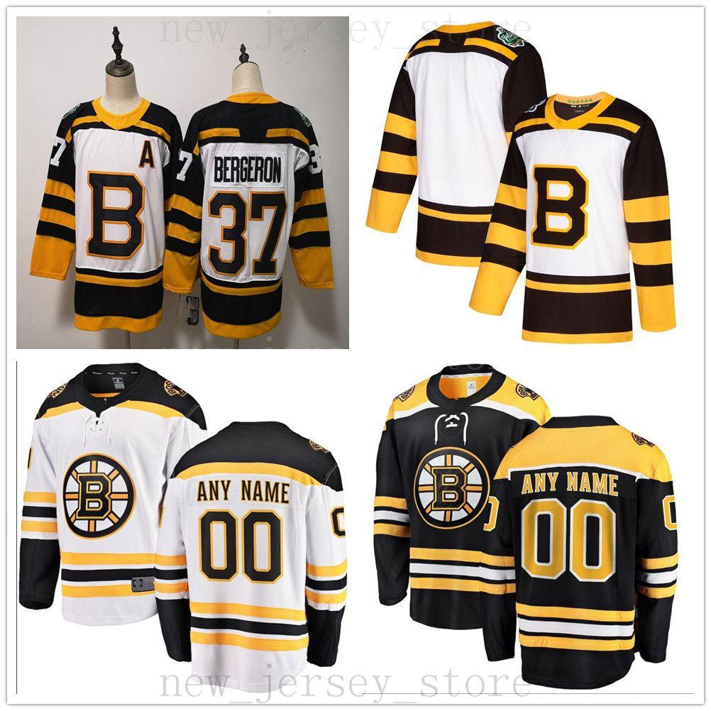 big sale a723f dcb03 Custom Boston Bruins Hockey Jersey 2019 New 55 Noel Acciari 25 Brandon  Carlo 26 Colby Cave 41 Jaroslav Halak Ryan Donato Matt Grzelcyk