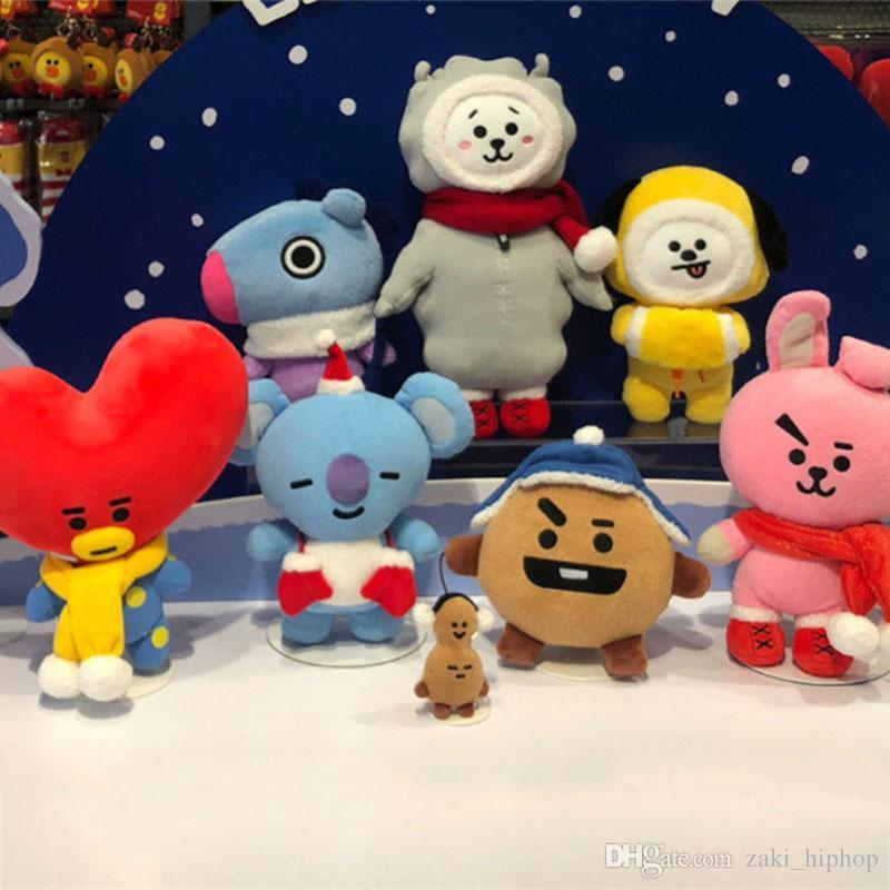 Bt21 Toys Christmas Plush Stuffed Dolls Bts Plush Toy Kpop Soft Doll New  Arrive Gift for Kids