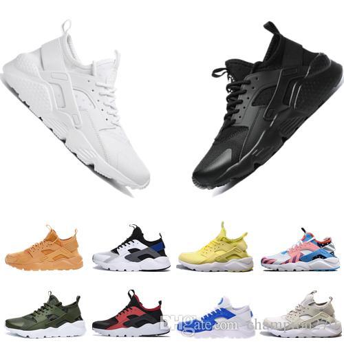 99fe3e8214 2019 Nuevas Zapatillas Huarache Para Hombre Mujer VARSITY JACKET PURPLE  PUNCH Triple Negro Blanco Gris Para Hombre Zapatillas Deportivas  Transpirables Por ...