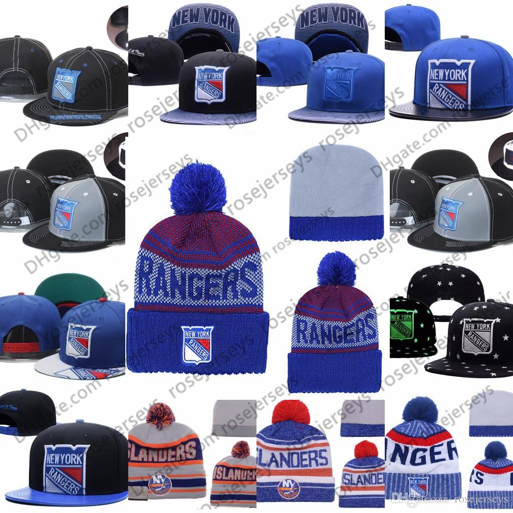 654eafe55e2 2019 New York Rangers Ice Hockey Knit Beanies Embroidery Adjustable Hat  Embroidered Snapback Caps Blue White Gray Black Stitched Hats One Size From  ...