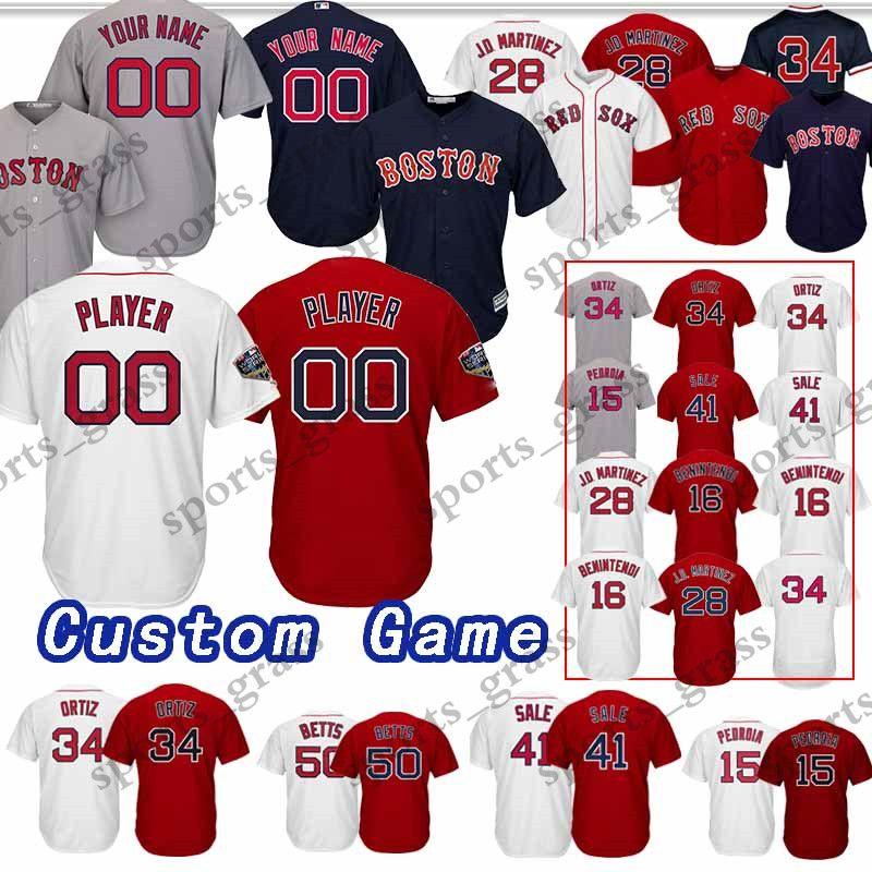 2019 Custom Game Boston Red Sox Baseball Jersey 32 Matt Barnes 16  Benintendi 70 Ryan Brasier 12 Brock Holt 59 Travis 64 Marcus Walden Jerseys  From ... 38ceaddb68e