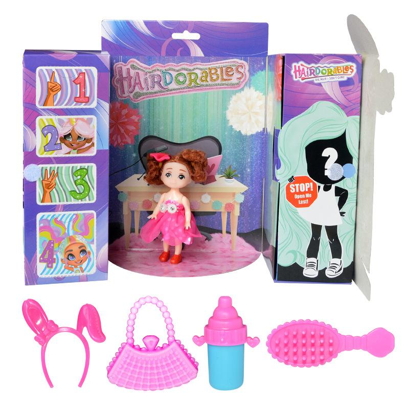 New For Hairdorables Figure Child Girl Changeable Hairstyle Long