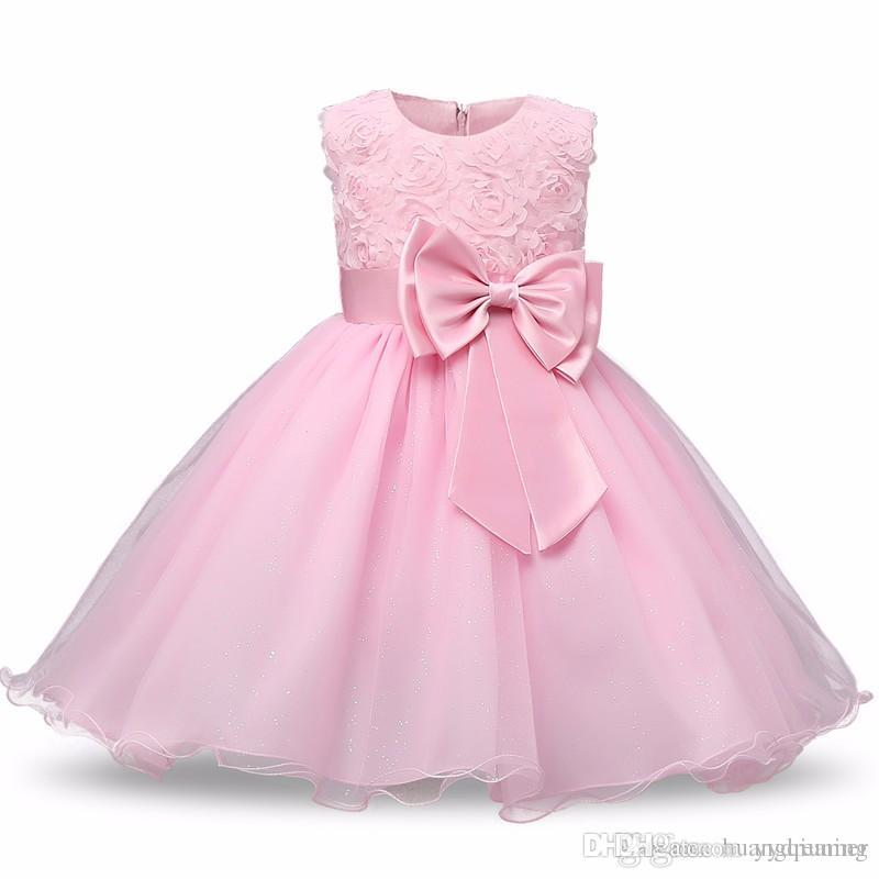 Princess Flower Girl Dress Summer Tutu Wedding Birthday Party Dresses For Girls Infant Girls Costume Newborn Baby Prom Designs Ball Gowns