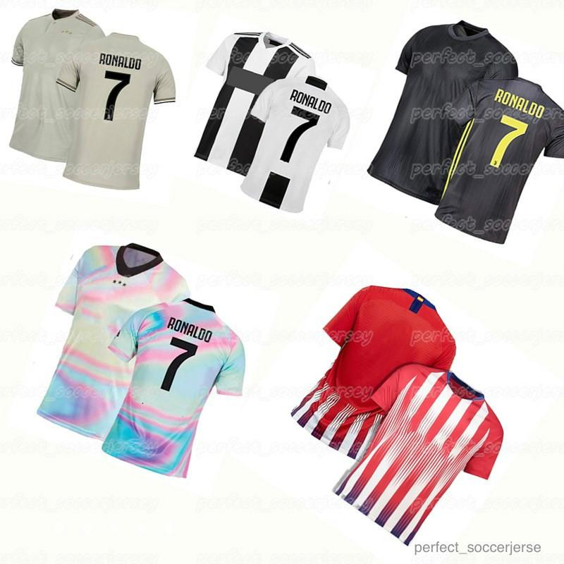 big sale 953ee c99a6 2018 JUVENTUS Best-selling Soccer Jersey 7 Ronaldo 10 Dybala 17 Mandzukic  Men s and KID s Football Shirts jersey