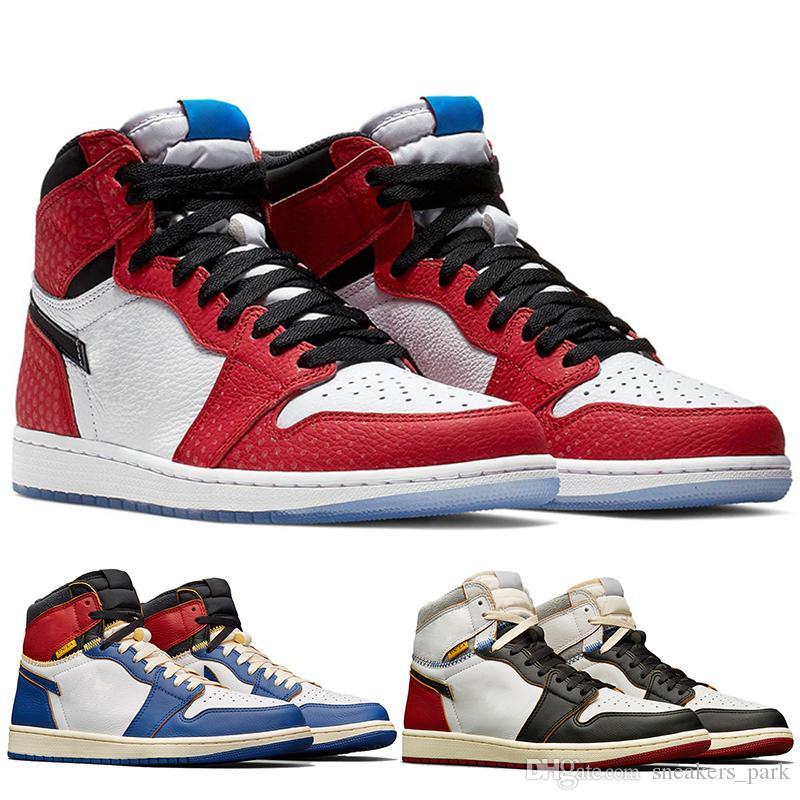 1f3d74451ec0 New 1 OG Spider Man Origin Story Mens Basketball Shoes Best Quality 2019  Chicago Crystal Men Sneakers Sport Shoes US 7 13 Basketball Shoe Men Shoes  Online ...