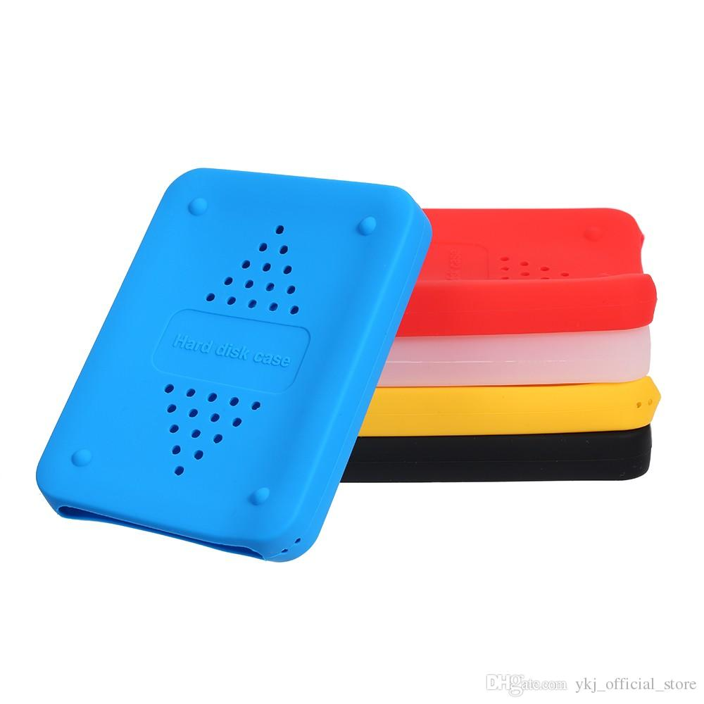 2.5inch Hand HDD Carry Case USB Flash Hard Drive Disk Carrying Case Pouch Bag Soft Silicone HDD Storage Bags